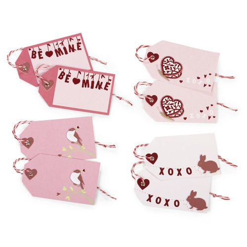 Martha Stewart Crafts - Valentine's Day Collection - Gift Tags with Foil Accents - Enchanted Woodland