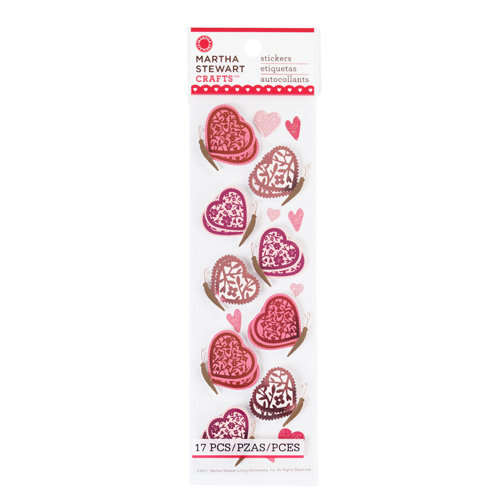 Martha Stewart Crafts - Valentine's Day Collection - Stickers with Foil Accents - Butterfly
