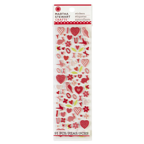 Martha Stewart Crafts - Valentine's Day Collection - Foam Stickers - Icons