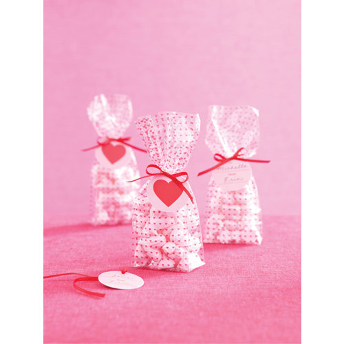 Martha Stewart Crafts - Valentine's Day Collection - Cellophane Treat Bags - Mini Hearts