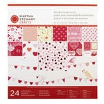 Martha Stewart Crafts - Valentine's Day Collection - 12 x 12 Designer Paper Pad - Enchanted Woodland