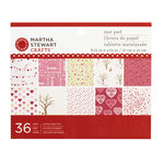 Martha Stewart Crafts - Valentine's Day Collection - Mat Paper Pad - Enchanted Woodland