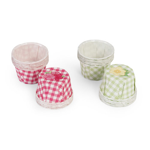 Martha Stewart Crafts - Spring Seasonal Collection - Favor Cups - Pastel Gingham