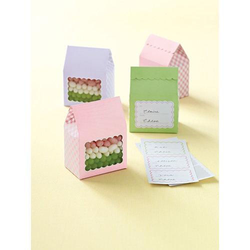 Martha Stewart Crafts - Spring Seasonal Collection - Treat Boxes - Pastel Gingham