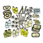 Martha Stewart Crafts - Elegant Witch Collection - Halloween - Die Cut Acetate Pieces