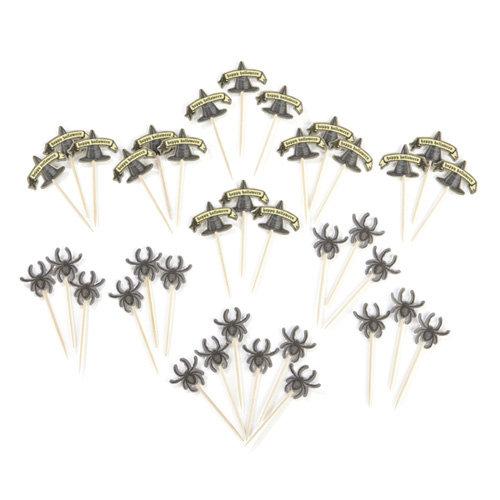 Martha Stewart Crafts - Elegant Witch Collection - Halloween - Mini Food Picks