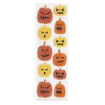 Martha Stewart Crafts - Halloween - Stitched Felt Stickers - Pumpkin