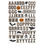 Martha Stewart Crafts - Classic Halloween Collection - Stickers - Alphabet