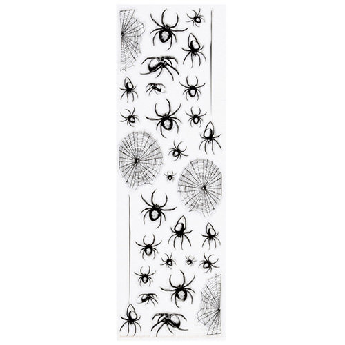 Martha Stewart Crafts - Halloween - Epoxy Stickers - Spider and Web