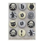 Martha Stewart Crafts - Elegant Witch Collection - Halloween - Fabric Brads