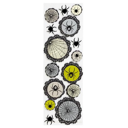Martha Stewart Crafts - Halloween - Layered Stickers - Spiderweb Doily