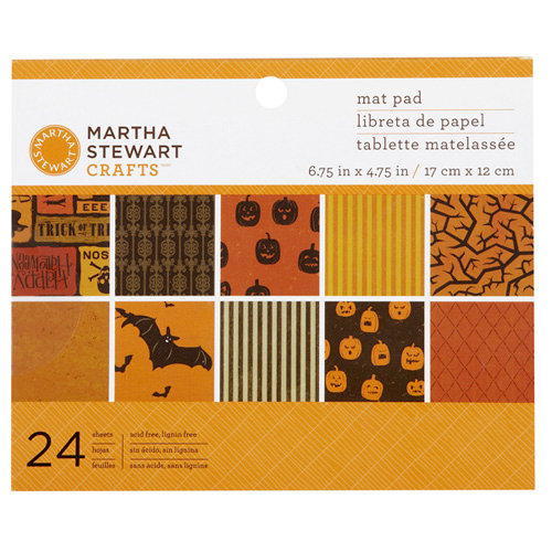 Martha Stewart Crafts - Classic Halloween Collection - Mat Paper Pad
