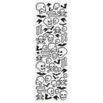 Martha Stewart Crafts - Halloween - Glitter Stickers - Skull and Bone
