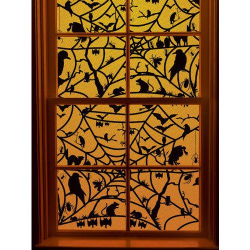 Martha Stewart Crafts - Halloween Collection - Window Cling - Haunted Web