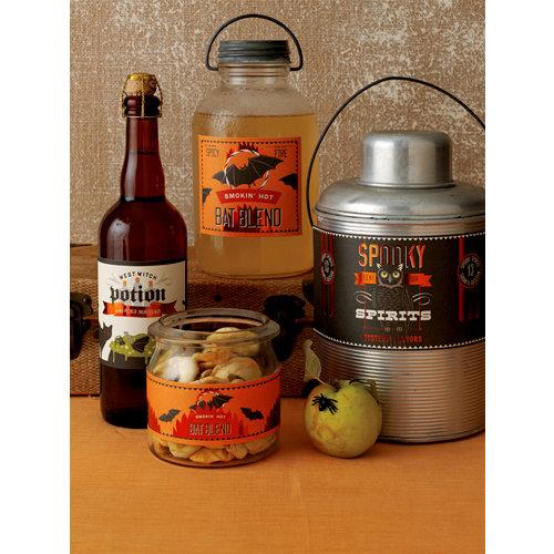 Martha Stewart Crafts - Halloween Collection - Assorted Beverage Labels - Carnival