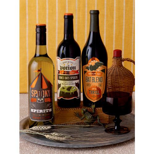 Martha Stewart Crafts - Halloween Collection - Beverage Labels - Carnival