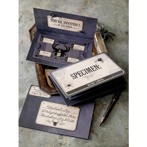 Martha Stewart Crafts - Halloween Collection - Invitation Kit - Specimen Box