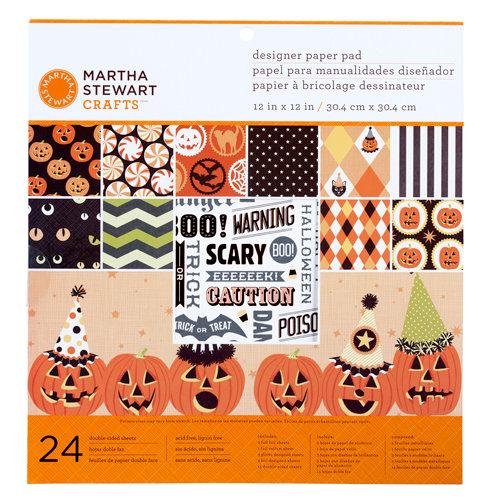 Martha Stewart Crafts - Halloween Collection - 12 x 12 Designer Paper Pad - Carnival