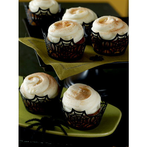 Martha Stewart Crafts - Halloween Collection - Die Cut Cupcake Treat Wrappers - Spiderweb