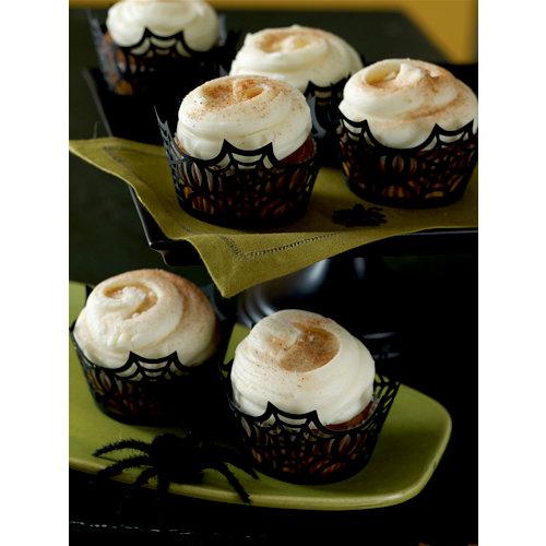 Martha Stewart Crafts - Halloween Collection - Die Cut Cupcake Treat Wrappers - Spiderweb