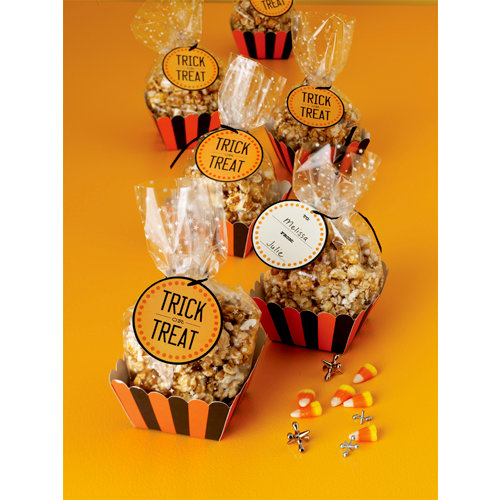 Martha Stewart Crafts - Halloween Collection - Cellophane Treat Bags and Baskets - Carnival