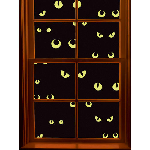 Martha Stewart Crafts - Halloween Collection - Window Cling - Scary Eyes