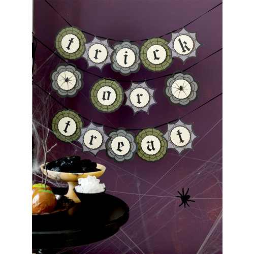 Martha Stewart Crafts - Halloween Collection - Garland - Haunted Trick or Treat