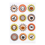 Martha Stewart Crafts - Halloween Collection - Layered Stickers with Foil and Glitter Accents - Carnival Round Icon