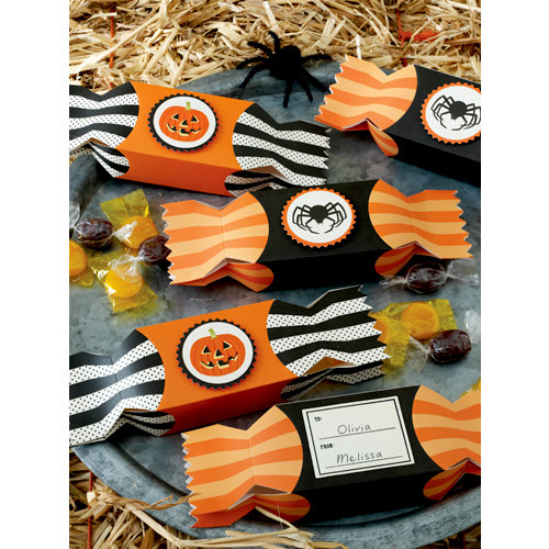 Martha Stewart Crafts - Halloween Collection - Candy Wrapper Treat Boxes - Carnival