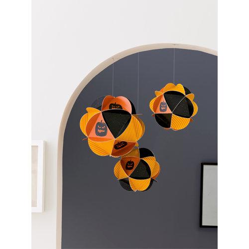 Martha Stewart Crafts - Halloween Collection - Patchwork Ornaments - Spooky Pumpkin