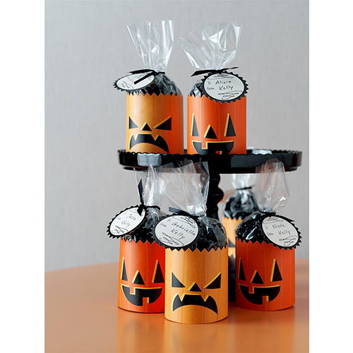 Martha Stewart Crafts - Animal Masquerade Collection - Halloween - Pumpkin Cello Treat Bags