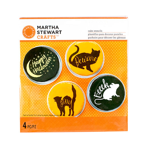Martha Stewart Crafts - Animal Masquerade Collection - Halloween - Cake Stencils