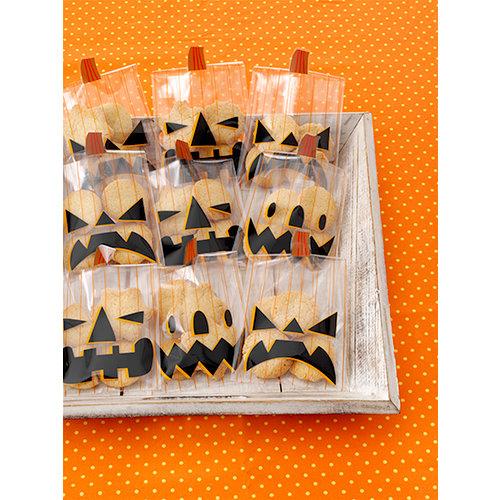 Martha Stewart Crafts - Animal Masquerade Collection - Halloween - Jack O Lantern Treat Bags