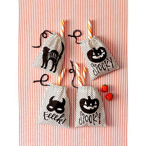 Martha Stewart Crafts - Animal Masquerade Collection - Halloween - Burlap Treat Bags