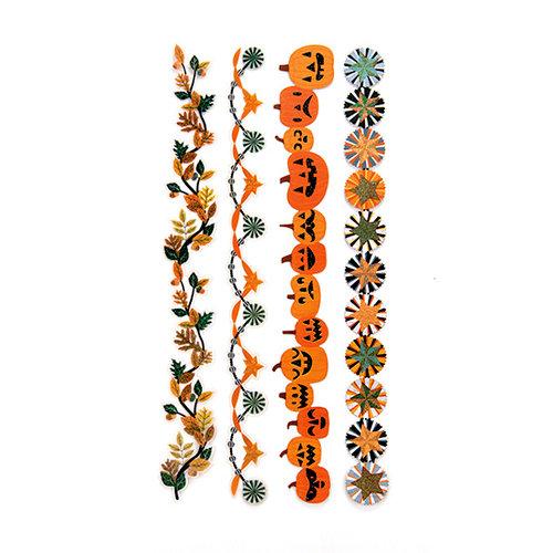 Martha Stewart Crafts - Animal Masquerade Collection - Halloween - Die Cut Adhesive Borders