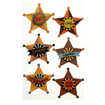 Martha Stewart Crafts - Animal Masquerade Collection - Halloween - Layered Stickers with Glitter Accents - Stars