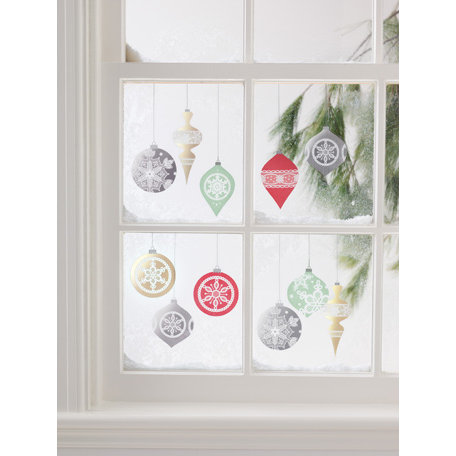 Martha Stewart Crafts - Snowflace Collection - Christmas - Mirror Clings - Ornaments