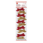 Martha Stewart Crafts - Woodland Collection - Christmas - Stickers - Red and Gold Bows