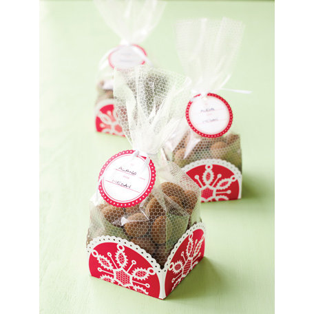 martha stewart crafts snowflace collection christmas cellophane and tray treat bags