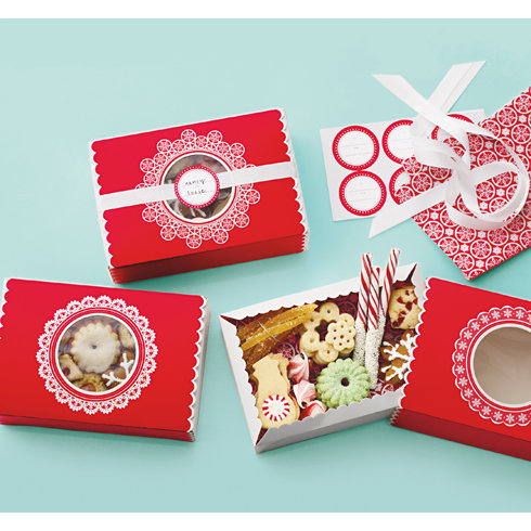 Martha Stewart Crafts - Snowflace Collection - Christmas - Match Box - Red Lace