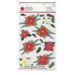 Martha Stewart Crafts - Woodland Collection - Christmas - 3 Dimensional Stickers - Poinsettia