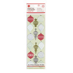 Martha Stewart Crafts - Snowflace Collection - Christmas - Epoxy Stickers - Ornaments