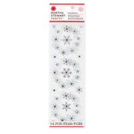 Martha Stewart Crafts - Snowflace Collection - Christmas - Layered Stickers - Wreath