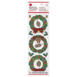 Martha Stewart Crafts - Woodland Collection - Christmas - Stickers - Wreath
