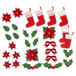 Martha Stewart Crafts - Woodland Collection - Christmas - Felt Die Cut Pieces- Flowers