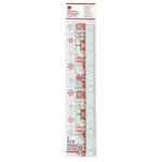 Martha Stewart Crafts - Snowflace Collection - Christmas - 3 Dimensional Stickers - Borders
