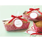 Martha Stewart Crafts - Snowflace Collection - Christmas - Loaf Tray and Cellophane Treat Bags