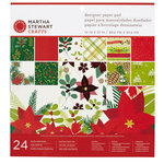 Martha Stewart Crafts - Woodland Collection - Christmas - 12 x 12 Designer Paper Pad