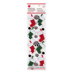 Martha Stewart Crafts - Woodland Collection - Christmas - Felt Stickers - Stockings and Ornaments