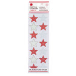 Martha Stewart Crafts - Snowflace Collection - Christmas - Epoxy Stickers - Star